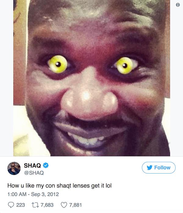 Celebrity Tweets Shaq