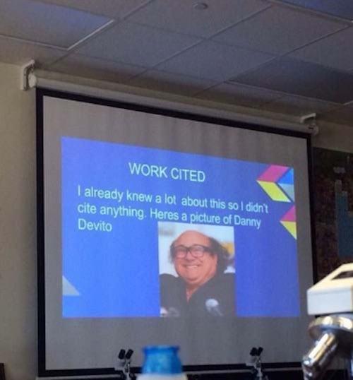 Funny Classroom Photos Danny Devito