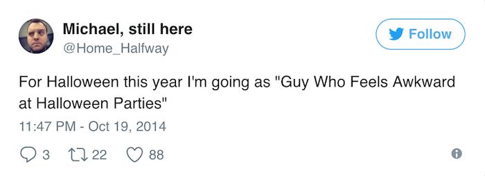 Halloween Tweets Awkward
