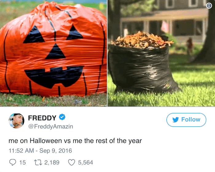 Halloween Tweets Garbage Bags