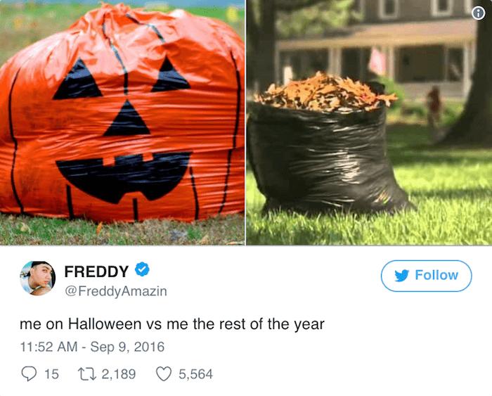 Halloween Tweets Garbage Bags