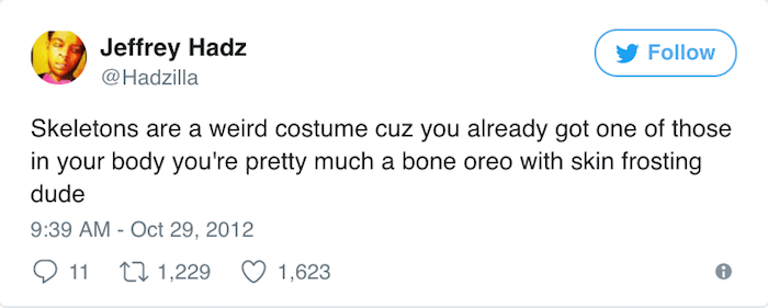 Halloween Tweets Skeletons