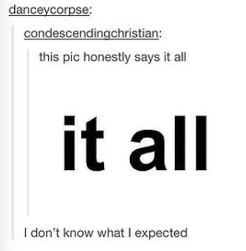 It All