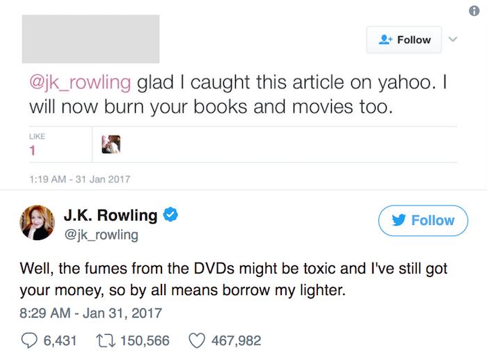 Funny Celebrity Tweets Jk Rowling