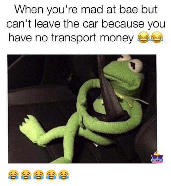 Kermit Mad At Bae