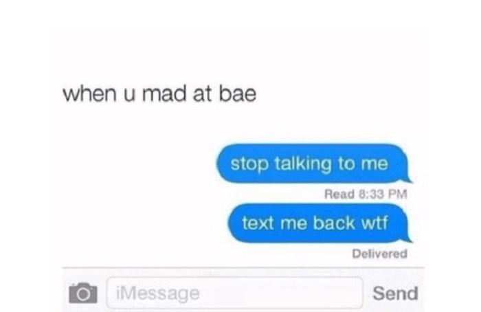 Mad At Bae Funny Texts