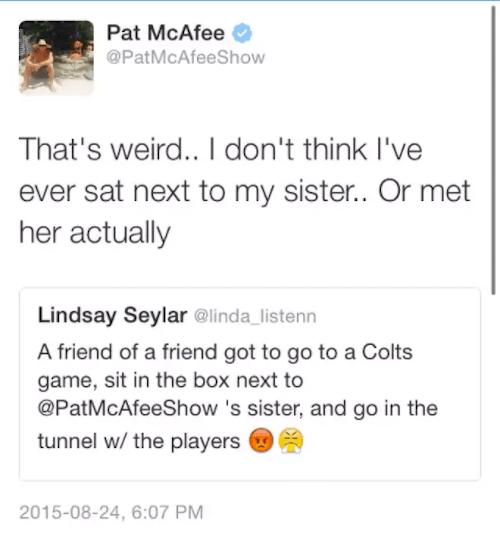 Pat Mcafee Sister