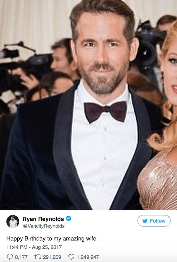 Funny Celebrity Tweets Reynolds