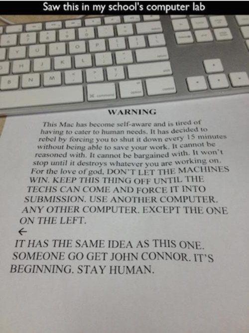 Self Aware Mac