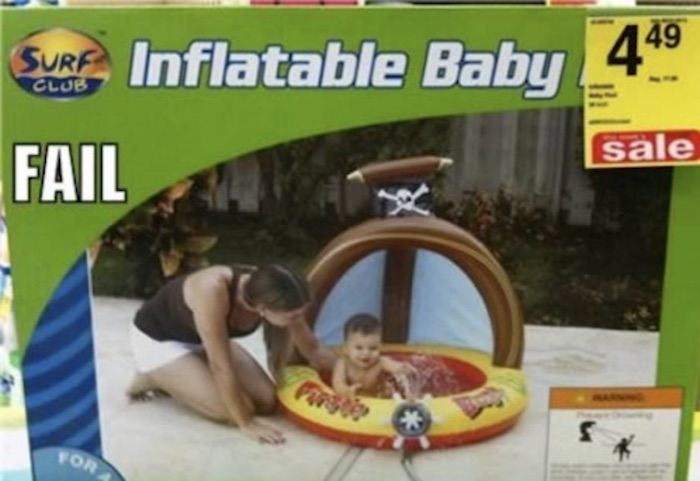 Sticker Placement Inflatable Baby