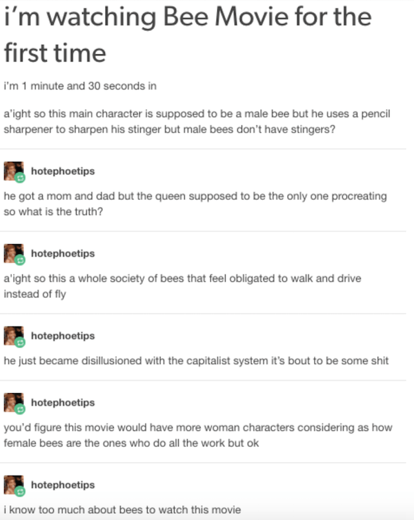 Tumblr Movies Bee Movie