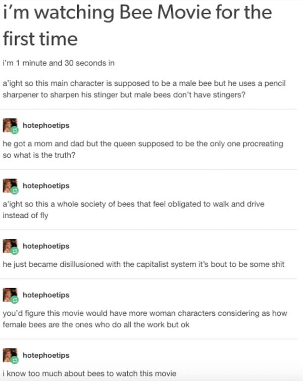 Tumblr Movies Bee Movie