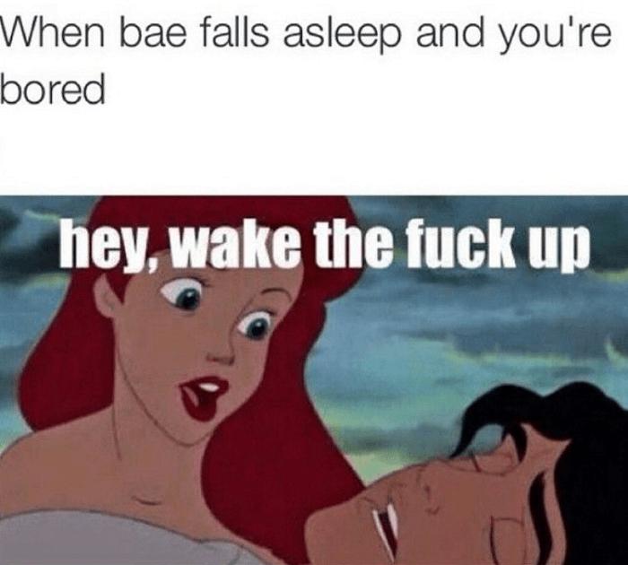 When Bae Falls Asleep