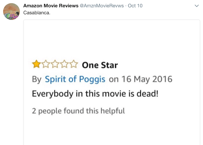 Amazon Reviews Casablanca
