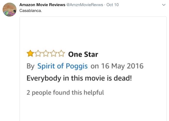 Amazon Reviews Casablanca