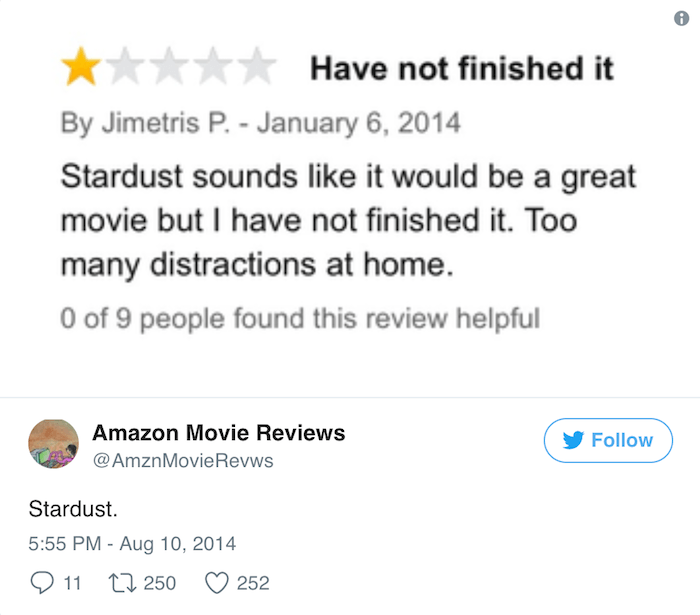 Amazon Reviews Stardust
