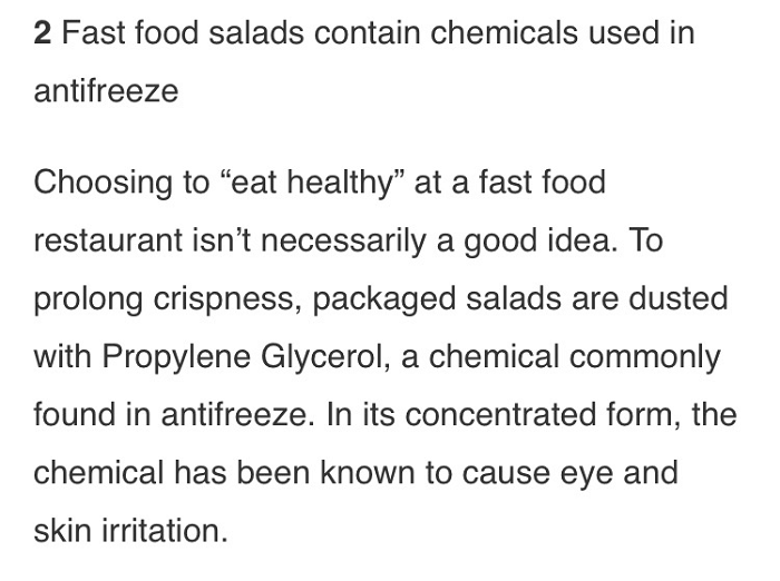 Antifreeze Salad