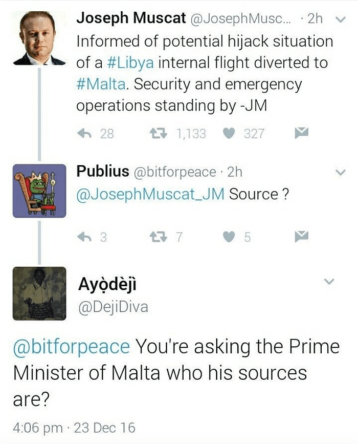 Clapbacks Prime Minister