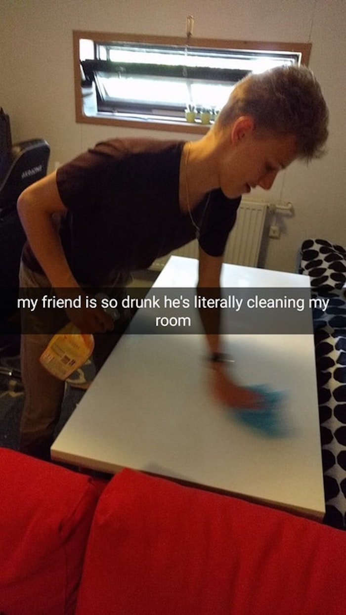 Drunk Cleaning