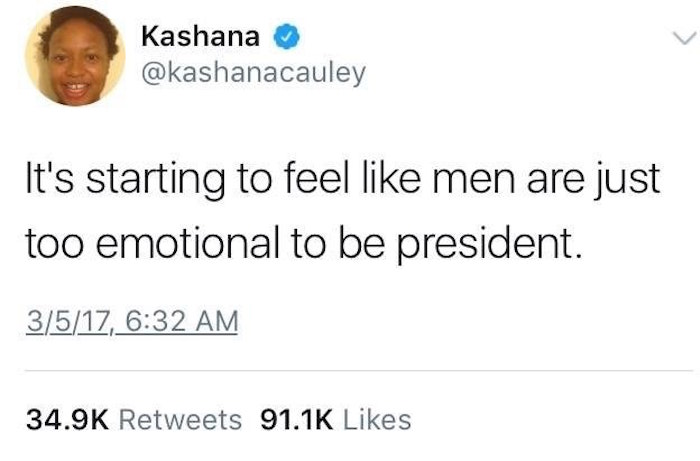 Too Emotional To Be President