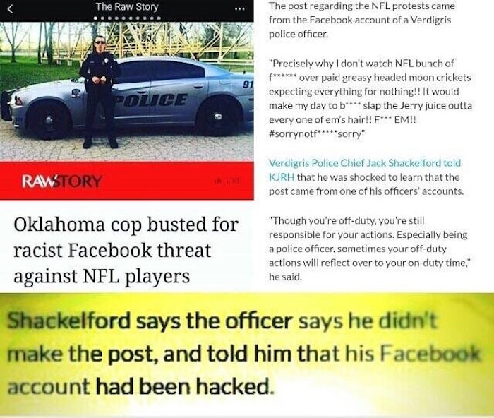 Facebook Police Officer