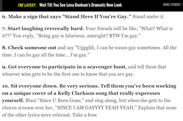Gay Advice