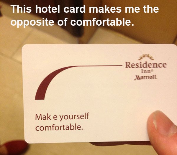 Hotel Card Mildly Infuriating Photos