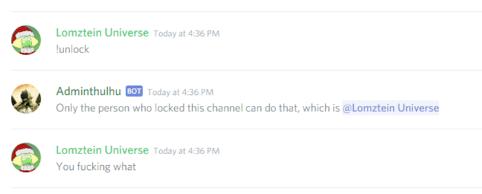 Locked Channel