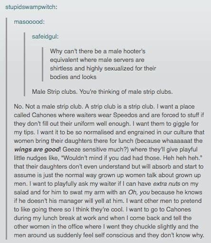 Male Hooters