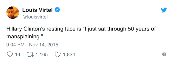 Mansplaining Tweets Hillary