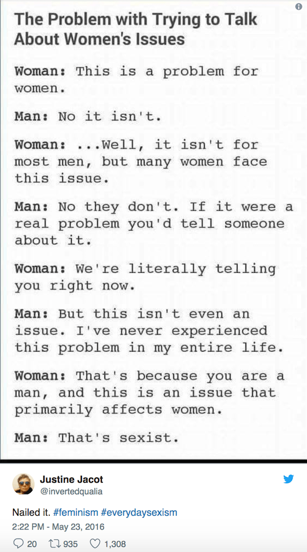 Mansplaining Tweets Sexism