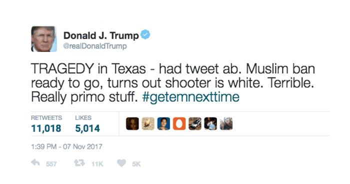 Muslim Ban Trump Tweet