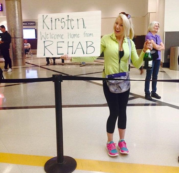 Welcome Back From Rehab Funny Airport Sign