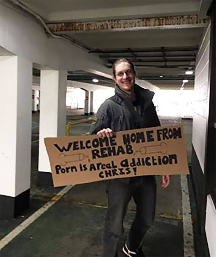 Rehab Welcome Sign