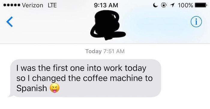 Spanish Coffee Machine