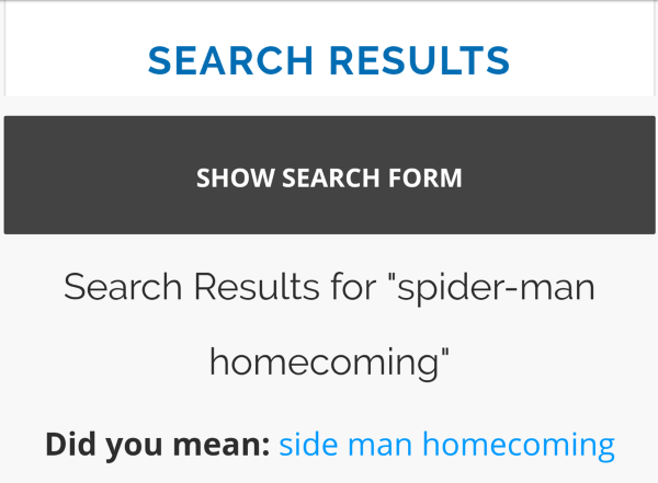 Spider Man Search Results