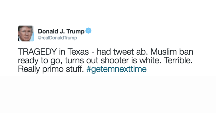 Trump Shooting Tweet