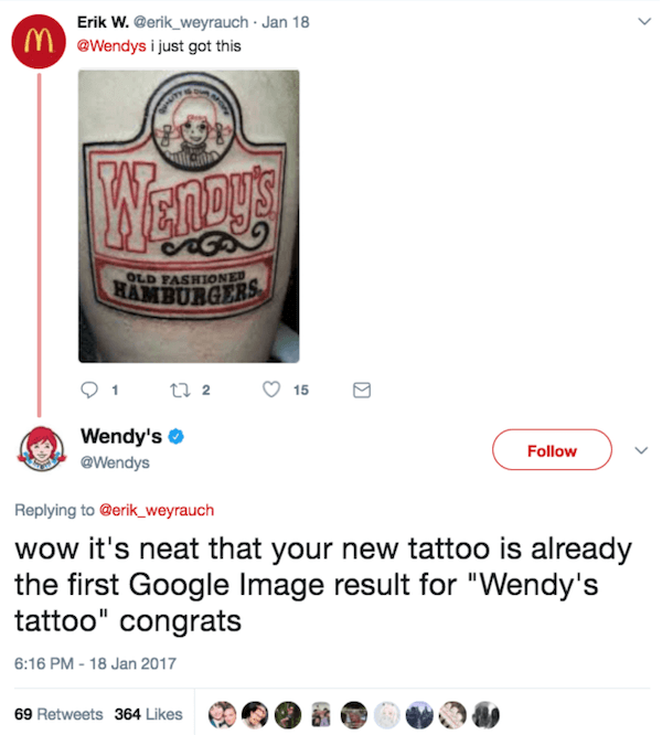 Wendys Tattoo