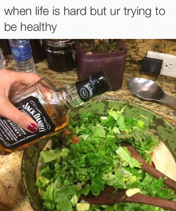 Health Fails Whiskey Salad