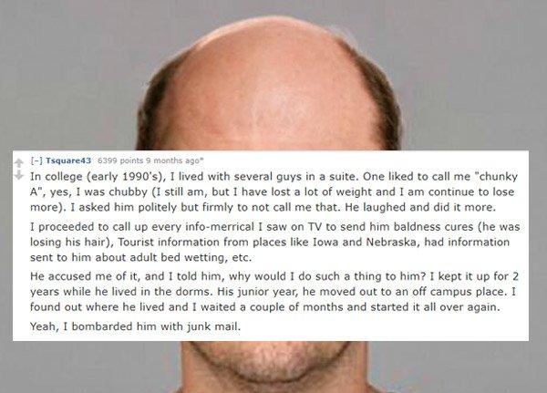 Funny Revenge Stories On College Roommate