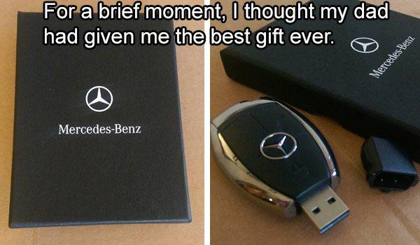Mercedes Benz USB Keychain