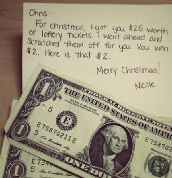 Used Lotto Tickets Gift