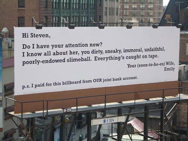 Funny Billboard To Get Revenge