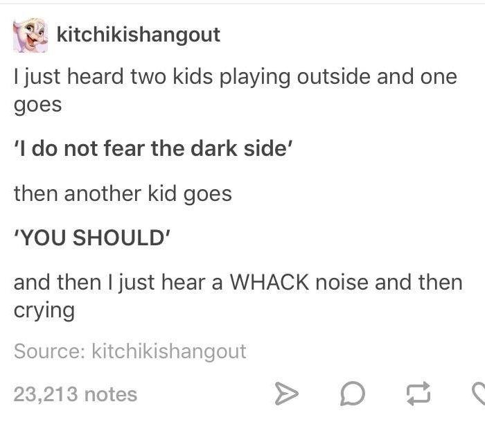 Fear The Dark Side