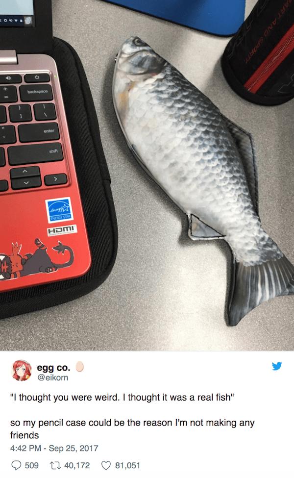 Fish Pencil Case