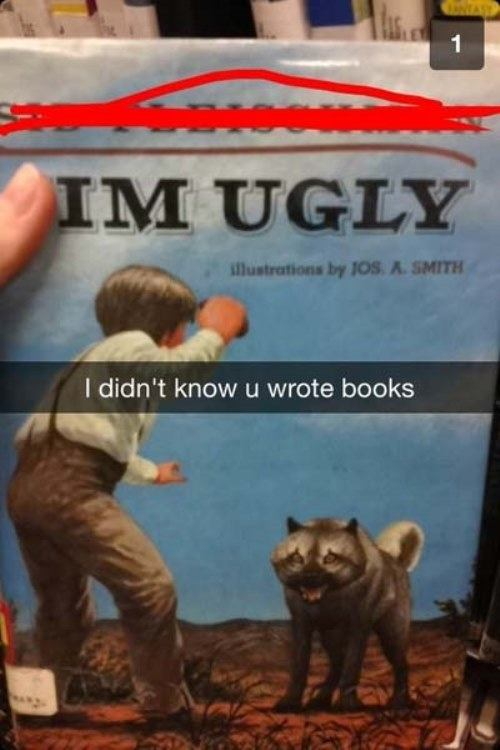 Funny Snapchat Ugly Books