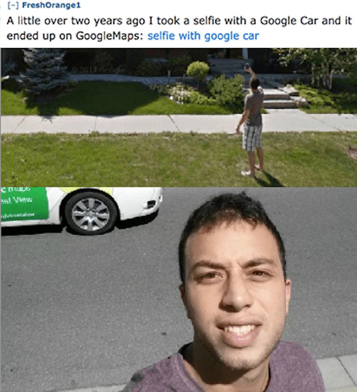 Google Car Selfie