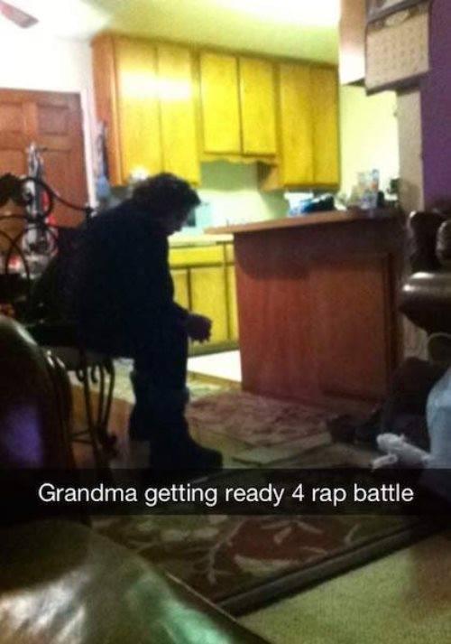 Grandma Getting Ready