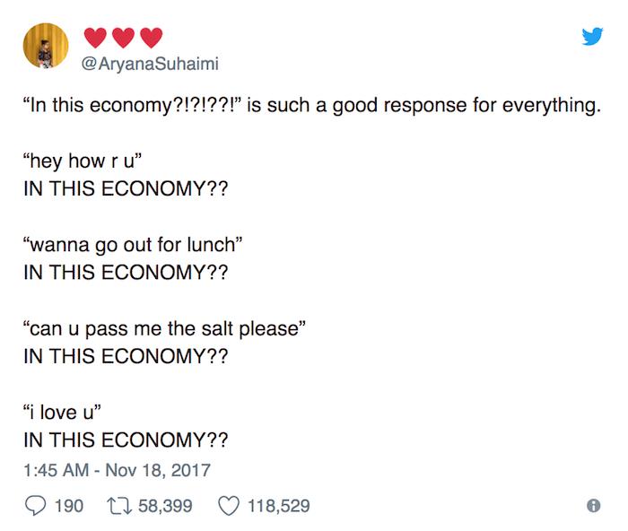 In This Economy