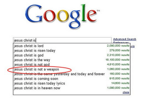 Funny Google Suggestions When You Search For Jesus